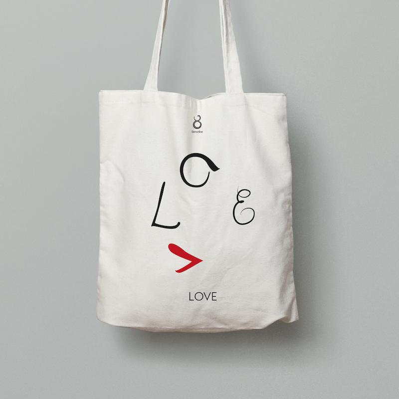 Tote Bag LOVE. Tierceline