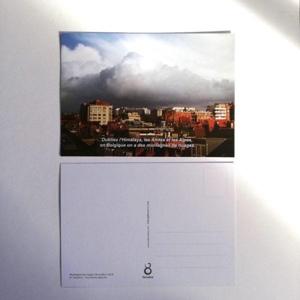 recto verso_carte postale_Montagnes de nuages_tierceline