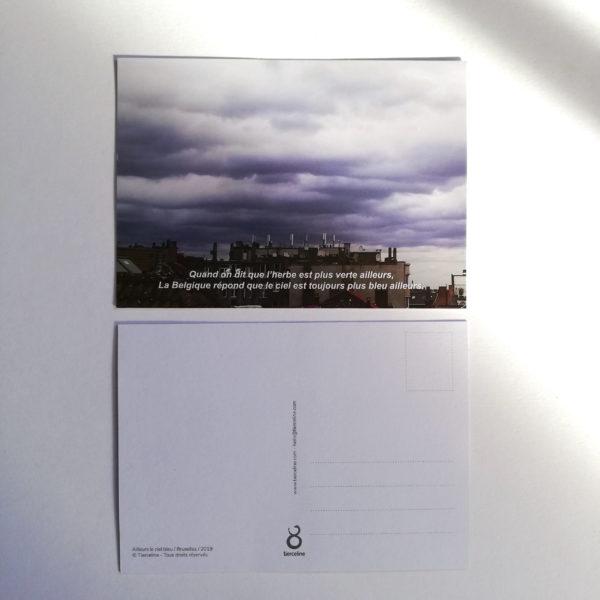 recto verso_carte postale_le ciel bleu Bruxelles_tierceline