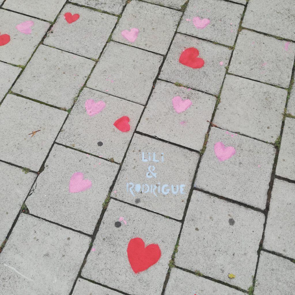 coeur sur pavés mariage, Tierceline