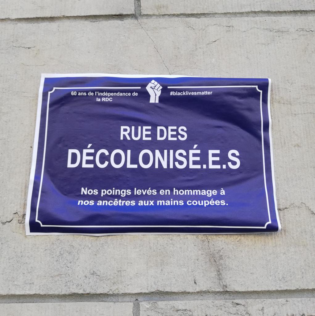 rue des décolonisées. 60 ans d'indépendance de la RDC. Tierceline