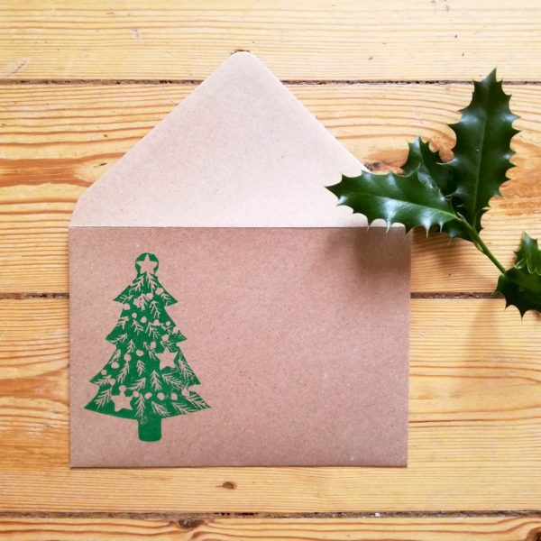 enveloppes sapin de Noël par Tierceline.