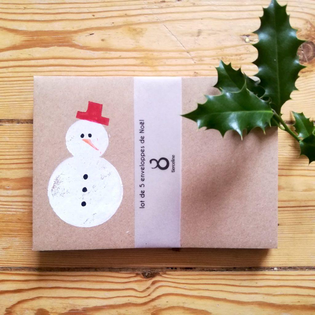 lot enveloppes Bonhomme de neige par Tierceline.