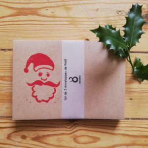 lot enveloppes Père Noël par Tierceline.