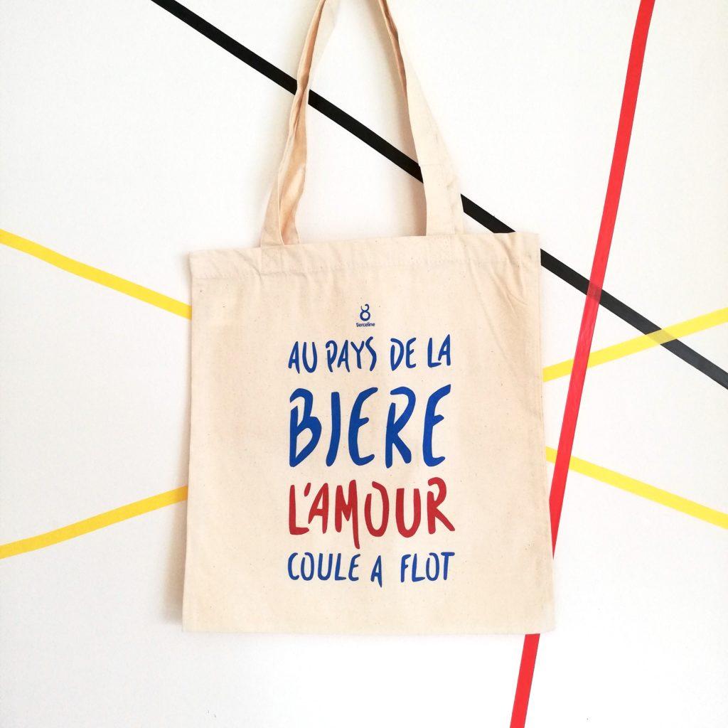 tote bag - bière amour - tierceline - belgique