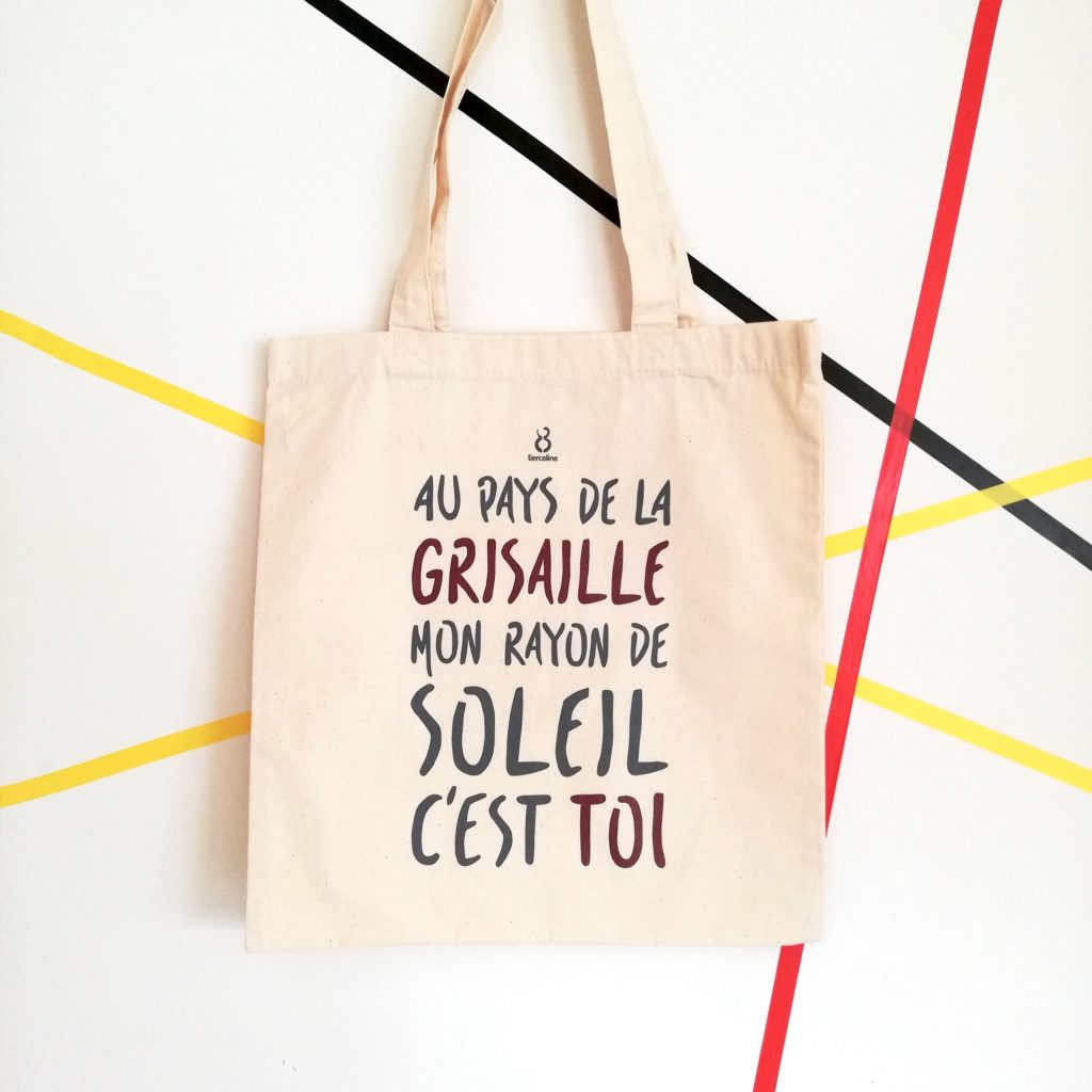 tote bag - grisaille - amour - tierceline - belgique